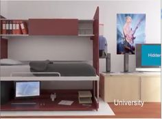 multifunctional furniture convertible bed and desk
