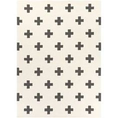Hilda Monica Hand-Crafted White & Black Area Rug