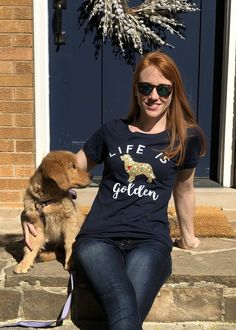 Life is Golden- Golden Retriever Love Shirt by GingerMooseCrafts on Etsy
