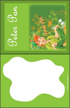 Tinker bell purple tinker bell peter pan invitations for Peter pan invitation template