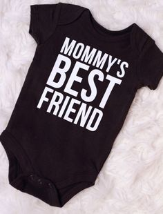 Mommy's Best Friend Charcoal Bodysuit by BlessedBlindSheep on Etsy