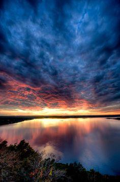 Sunset on Lake Travis, Austin, Texas