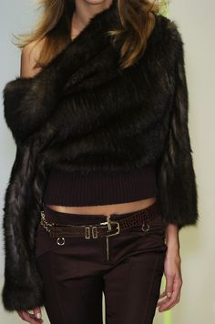 Why have a fur coat, when you could have a fur sweater? love