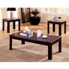 Town Square Classic Style Coffee & End Table Set