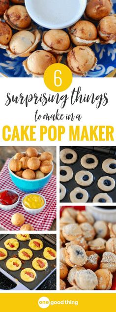 A cake pop maker might seem like an impractical appliance to buy for your kitchen, but you won't think that after reading about all the delicious things you can make in it! Turns out it�s ideal for creating bite-size versions of your favorite dishes in mi