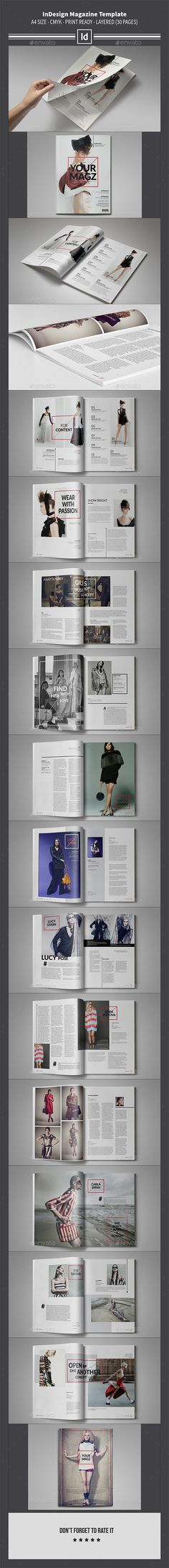 InDesign Magazine Template 30 Pages | Download: http://graphicriver.net/item/indesign-magazine-template-30-pages/9993931?ref=ksioks