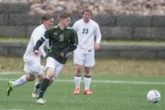 Lander's Kyle Leemon looks to beat Kelly Walsh's Nathan Richardson to the ball as Kelly Walsh faced Lander on Tuesday. See the story at http://trib.com/sports/high-school/soccer-boys