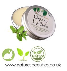 Natural Organic Lip Balm Made with Peppermint essential oil - refreshing and zingy A 100 natural organic lip balm that has been handmade using purehttp://www.naturesbeauties.co.uk/100-natural-organic-peppermint-lip-balm-tin-10218-p.asp