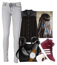 """""""The day"""" by medicicapetiens ❤ liked on Polyvore featuring IRO, VILA, Coach, adidas and Marc by Marc Jacobs"""
