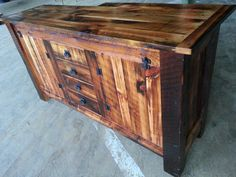 buffet Spalted Maple, Old Antiques, Hope Chest, Barn Wood, Storage Chest, Buffet, Cabinet, Colors, Board