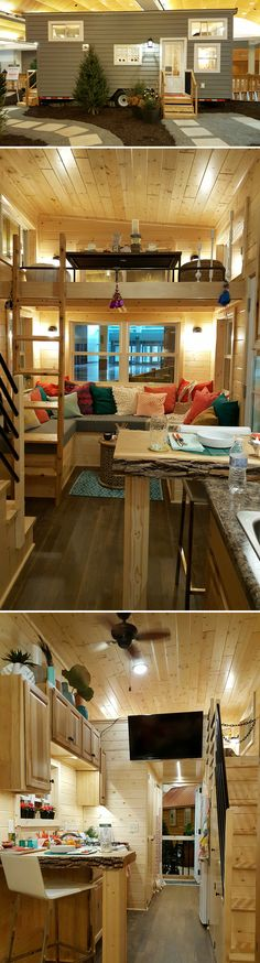 From Minnesota-based Glenmark Construction is The Getaway, which was featured in the Minneapolis Home & Garden Show. #tinyhouses #tinyhouseonwheels #tinyhome