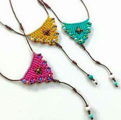 Macrame necklaces!!!