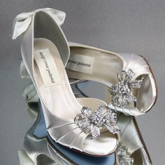 Custom Wedding Shoes Ivory Peep Toe Wedding by DesignYourPedestal