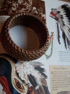 Native American Pine needle Bracelet by mariehuddleston on Etsy, $60.00