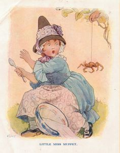 RARE and ORIGINAL Ready Matted Nursery Rhyme Print by Margaret Tarrant c.1920's on Etsy, $13.90