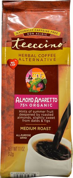 Teeccino Herbal Coffee Alternative Almond Amaretto