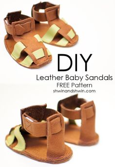 DIY Leather Sandals    FREE PDF Pattern    Shwin&Shwin