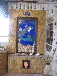 Custom mural   Bimini   Bahamas   Ashley Saunders   Dolphin House