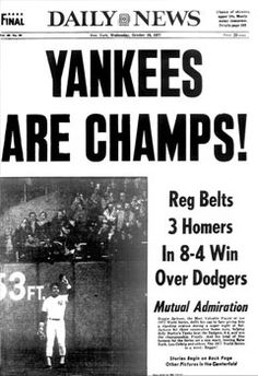 Yanks win 1977 World Series with a little help from Reggie Jackson's three home runs in three at bats!