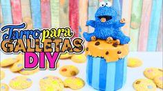 IDEAS Y MANUALIDADES PARA DECORAR - Tarro para guardar galletas DIY Cookie Monster - YouTube