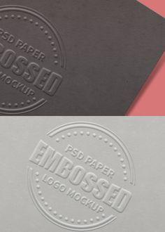 32 high quality logo psd mockups pinterest mockup business embossed paper logo mockup psd reheart Choice Image
