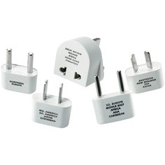 9 pack Conair Travel Smart Adapter Plug For Southern Europe Middle East 1 ea