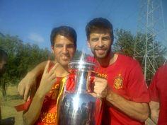 Cesc Fabregas & Gerard Piqué