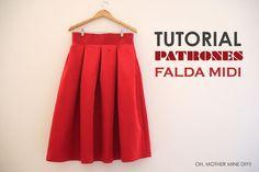 Tutorial de costura: Una falda midi