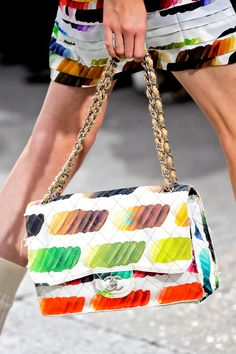 Chanel's Rainbow Classic Flap Bag - Spring/Summer 2014 - Discount Louisvuittons…
