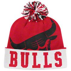 5a001fabf32 Chicago Bulls adidas Originals Red Style Option Long Pom Knit Hat  0.00  http