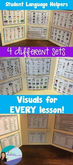 Student language helpers-visual supports to help with developing language skills.