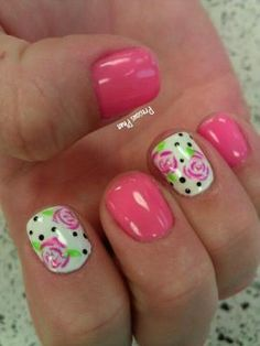 Floral spring nails by maribel