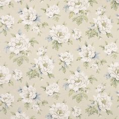 Wisley Natural Floral Linen/Cotton Curtain Fabric at Laura Ashley Cotton Curtains, Floral Curtains, Curtain Fabric, Linen Fabric, Cotton Linen, Floral Print Wallpaper, Floral Print Fabric, Floral Prints, Laura Ashley