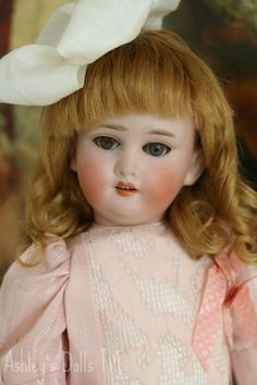 """Antique German Bisque Doll Marked """"O"""", 14 IN"""