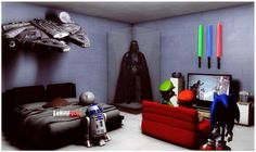 star wars room - Best Star Wars rooms for 2018 to check out! We collected the most inspiring and creative room decorations for Star Wars fans. Decoration Star Wars, Star Wars Room Decor, Star Wars Bedroom, Lego Bedroom Decor, Bedroom Themes, Bedroom Ideas, Bedroom Murals, Bedroom Designs, Star Wars Zimmer