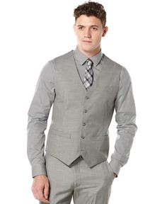 Perry Ellis Big and Tall Solid Vest