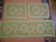 tapete de croche 2 Tapete de Croche em Barbante   Com Grafico Flores Redondo Oval                                                                                                                                                                                 Mais