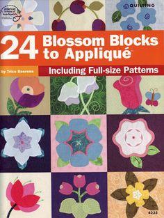 24 blossom blocks to applique - Gabriela Alicia De Murua - Picasa Web Albums...THIS IS AN ONLINE BOOK WITH PATTERNS!