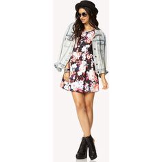 Floral Dress with Jean Jacket
