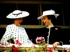 Princess Diana and Princess Anne - nothing as bright as a smile