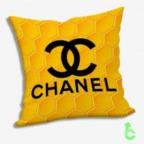 Chanel Honeycomb Yellow Pillow Cases