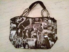 OTINANAI: Τσάντα μαυρόασπρη με κολάζ μόδας !!!