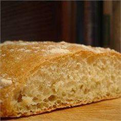 Pão ciabatta caseiro