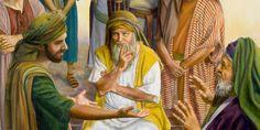Nell'antico Israele un giudice ascolta un caso di natura legale