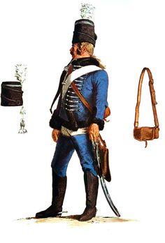 SOLDIERS- Menzel: SYW- Prussia: Prussian Husaren-Regiment von Malachowski No 7, by Adolph Menzel.