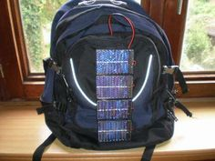 Make a solar backpack so you always have power!
