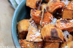 Clean Eating Roasted Coconut Sweet Potatoes