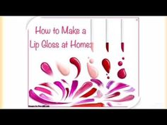 How to Make Lip Gloss at Home instantly. Vase, Lip Gloss, Facial, Remedies, Skincare, Lips, Videos, How To Make, Facial Treatment