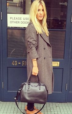 @MollieTheSats spotted out in London wearing our Station Herringbone Double-Breasted Coat #frenchconnection #mollieking