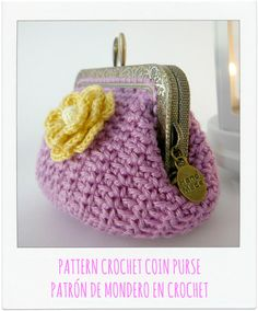 PATTERN Crochet Coin Purse Model nº 2 by PitusasyPetetes on Etsy ♡